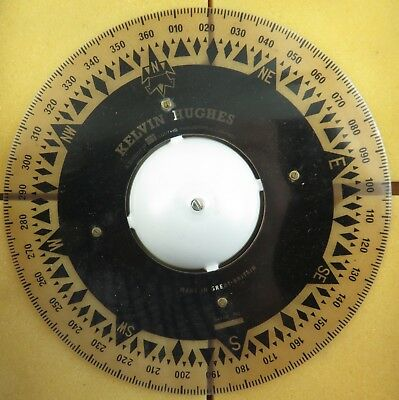 Super Rare / New Old Stock? / Kelvin Hughes Large Compass Dial. Gimbal Binnacle.