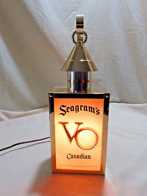 Seagrams VO Canadian Wall Sconce Lantern Light Up Bar Man Cave Sign Newark, NJ