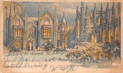 New York Grace Church Chicago Sunday American Newspaper Postcard 1904