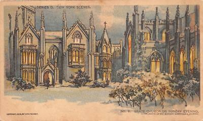 New York Grace Church Chicago Sunday American Newspaper Postcard (1903)