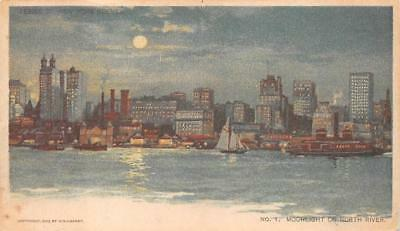 North River New York Chicago Sunday American Newspaper Postcard (1903)