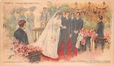 Wedding Church New York Chicago Sunday American Newspaper Postcard (1903)