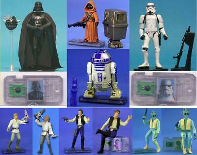 STAR WARS POTF2 COMMTECH Darth Vader, R2-D2 holo Leia, Stormtrooper, Jawa, Loose