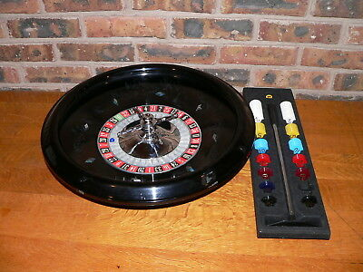 "Vintage Castel 18"" Roulette Wheel with Accessories~Single 0"