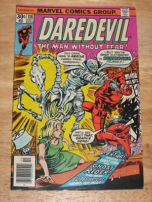 Daredevil 138 part 2 with Ghost Rider  High Grade  Marvel Comics Bronze Age
