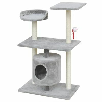 Cat Tree Scratching Post Scratcher Pole 1 House Pet Gym Condo Toy 94.5cm Grey