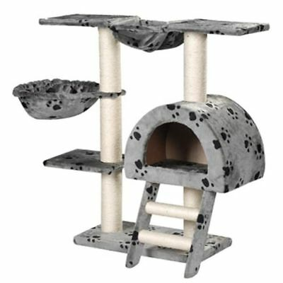 Cat Tree 105 Pet Scratcher Post Poles House Gym Condo Furniture Scratching Grey