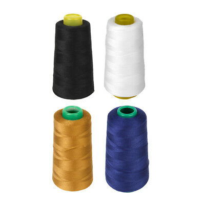 4 Spools All Purpose Polyester Thread for Hand Sewing Machine 3000 Yard Each