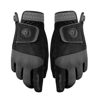 TaylorMade 2018 Rain Control Gloves - Pair Of Mens Wet Weather Golf Gloves