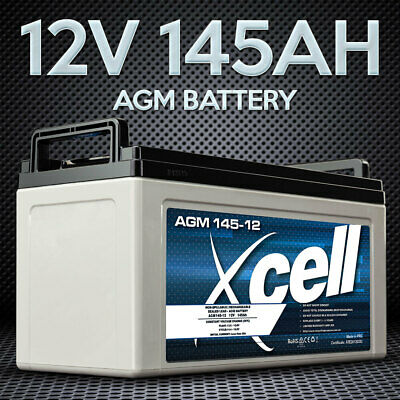 X-CELL AGM Deep Cycle Battery 12V 145Ah Portable Sealed SLA Camping Solar Marine
