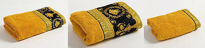 Versace Baroque Medusa 3 pieces Towel Set = 1Bath 1Hand 1Face - BlackGold