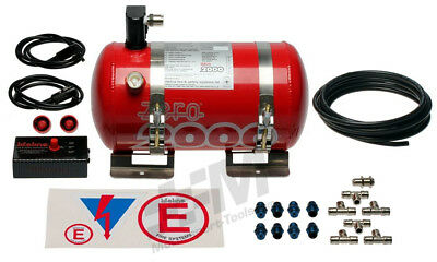 Lifeline FIA Zero2000 4L Alloy Electric Firel Extinguisher Kit Plumbed In System