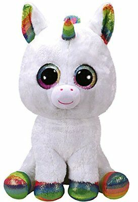 Ty beanie Boo's Pixy White  Unicorn  New with Tags -  Large 15''