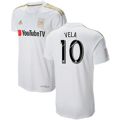 new arrival 06844 3d95b ADIDAS LOS ANGELES LAFC MLS 2018 Vela # 10 Home Soccer Jersey New Kids -  Youth