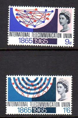 1965 GB INTERNATIONAL TELECOMMUNICATIONS UNION SG 683-684 MNH ITU Stamp Set Mint