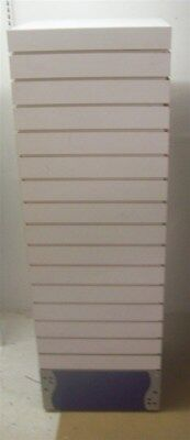 """SLATWALL TOWER DISPLAY ON ROLLERS 4 Sided 56"""" tall"""