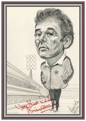 Collectors/Photograph/Print/Brian Clough/Nottingham Forest/Signed Photo
