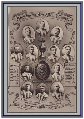 Collectors/Photograph/Print/Brighton FC/Team/Photo/Squad/1909/1910
