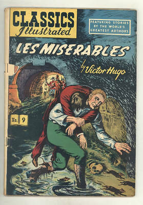 Classics Illustrated LES MISERABLES #9, rare HRN 51 without a cover price