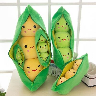 Kids Baby Plush Toy Cute Pea Stuffed Plant Doll Girlfriend Kawaii For Children