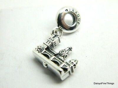 New/tags  Authentic Pandora Silver Charm Charles Bridge Prague #791516   Retired