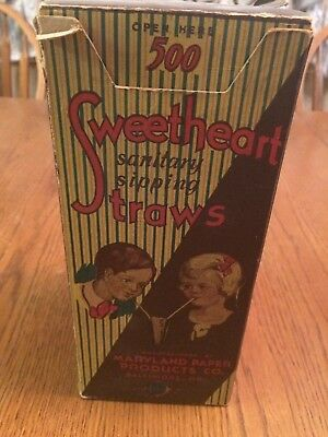 Vintage Sweetheart Straws- Maryland Paper Products