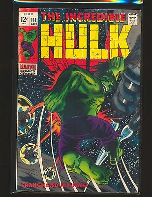 Incredible Hulk # 111 VG/Fine Cond.