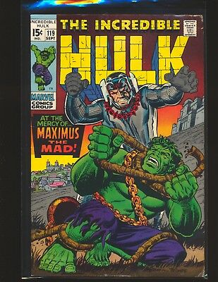 Incredible Hulk # 119 VG/Fine Cond.
