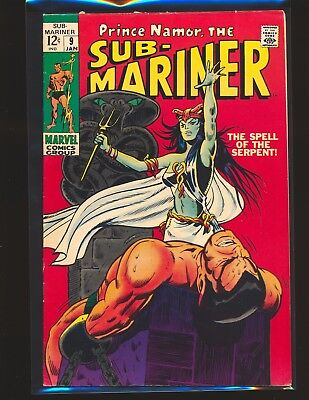 Sub-Mariner # 9 - 1st Serpent Crown VG Cond. multiple tears on interior pages