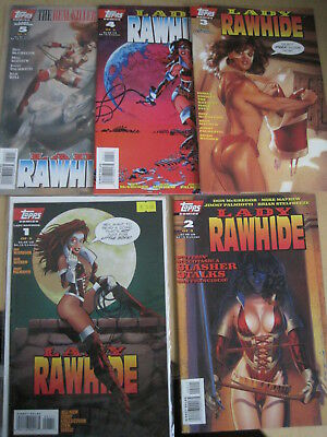 Lady Rawhide : Complete 5 Issue 1995 Debut Topps Series. Great Covers