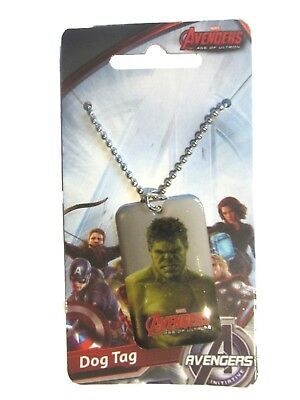 6 x Marvel Heroes Avengers Incredible Hulk Dog Tag Necklace Boys Party Bags