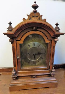 winterhalder & hoffmeir double fusee walnut bracket clock