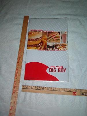 1 Large {closed 8- x 14-1/4 in.} Vinyl coated Graphic Big Boy  Menu shipped flat