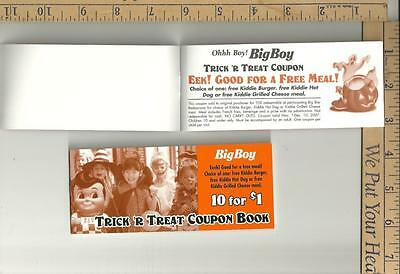 2 full NOS Big Boy Halloween Coupon books {10 per book } expired see scans