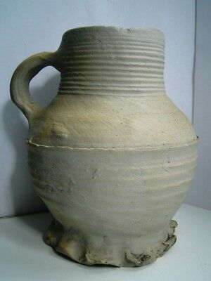 Early Tudor period salt glazed pottery beer stein mug German C1450-1550