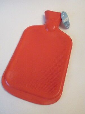 NEW Rubber HOT WATER BOTTLE Bag Warm, Hot, or Cold Therapy Red LARGE