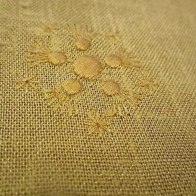50cm x 116cm Vintage Cotton fabric 1970S Yellow Novelty Embroidered Japan sew