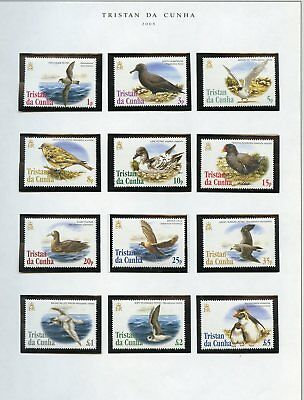 TRISTAN da CUNHA BIRDS SCOTT#771/82  MINT NEVER HINGED AS SHOWN