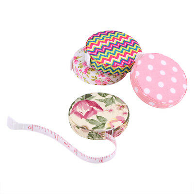 150cm/60in Retractable Ruler Soft Tape Measure Tapeline Sewing Tools Fabric Case