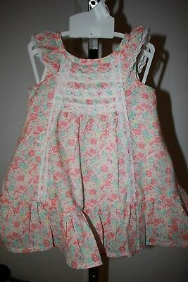 Jillianu0027s Closet, Baby Girls 0 3 Mos. Floral Dress With Diaper Cover,
