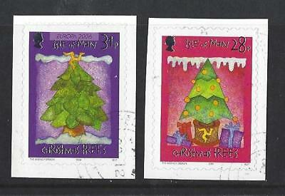Isle Of Man 2006, Christmas Self Adhesive Set Of 2 Fine Used