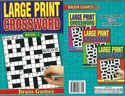 Large Print Crossword Book 75 Puzzles In Each A5 Size Book 1 A Real Bargain