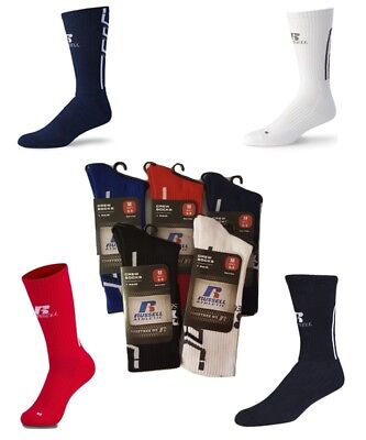 Russell Athletic Performance Crew Socks Choose Colors Soccer Baseball Football