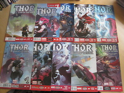 THOR GOD of THUNDER issues 1,10,11,12,13,18,19,22,23,25. By AARON,RIBIC etc.2013