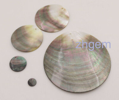 1 PCS 10 20 30 60 70 80mm Natural Black Shell Pendant Earring Mother of Pearl