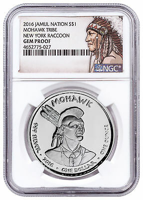 2016 Native American Silver Dollar Apache Rattlesnake 1 oz Silver Proof SKU50925