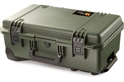Peli Storm iM2500 Airline Carry On Olive Case With Yellow Dividers