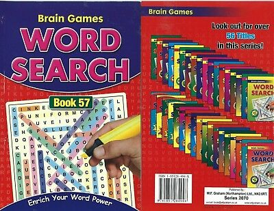 Word Search Books 144 Puzzles In Each A Size This Is  Book 57 Solutions Free P/p