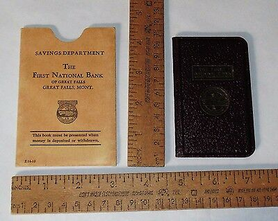 THE FIRST NATIONAL BANK of GREAT FALL - GREAT FALLS, MONTANA - Passbook / Sleeve