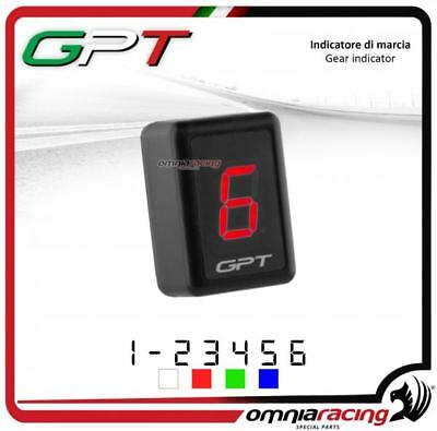 Contamarce GPT plug & play Indicatore marcia in abs rosso Yamaha FZ1 2001>2013